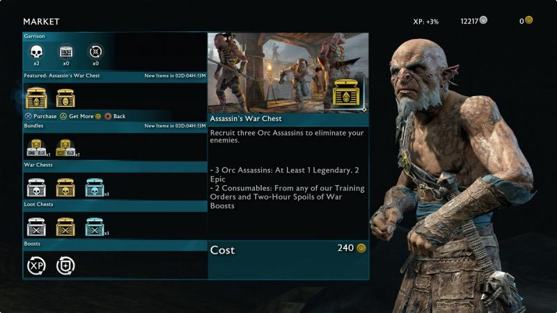 Middle-Earth: Shadow of Mordor - Loot boxes