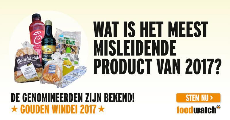 Supermarkten en Unilever strijden om Gouden Windei (Foto: Foodwatch)