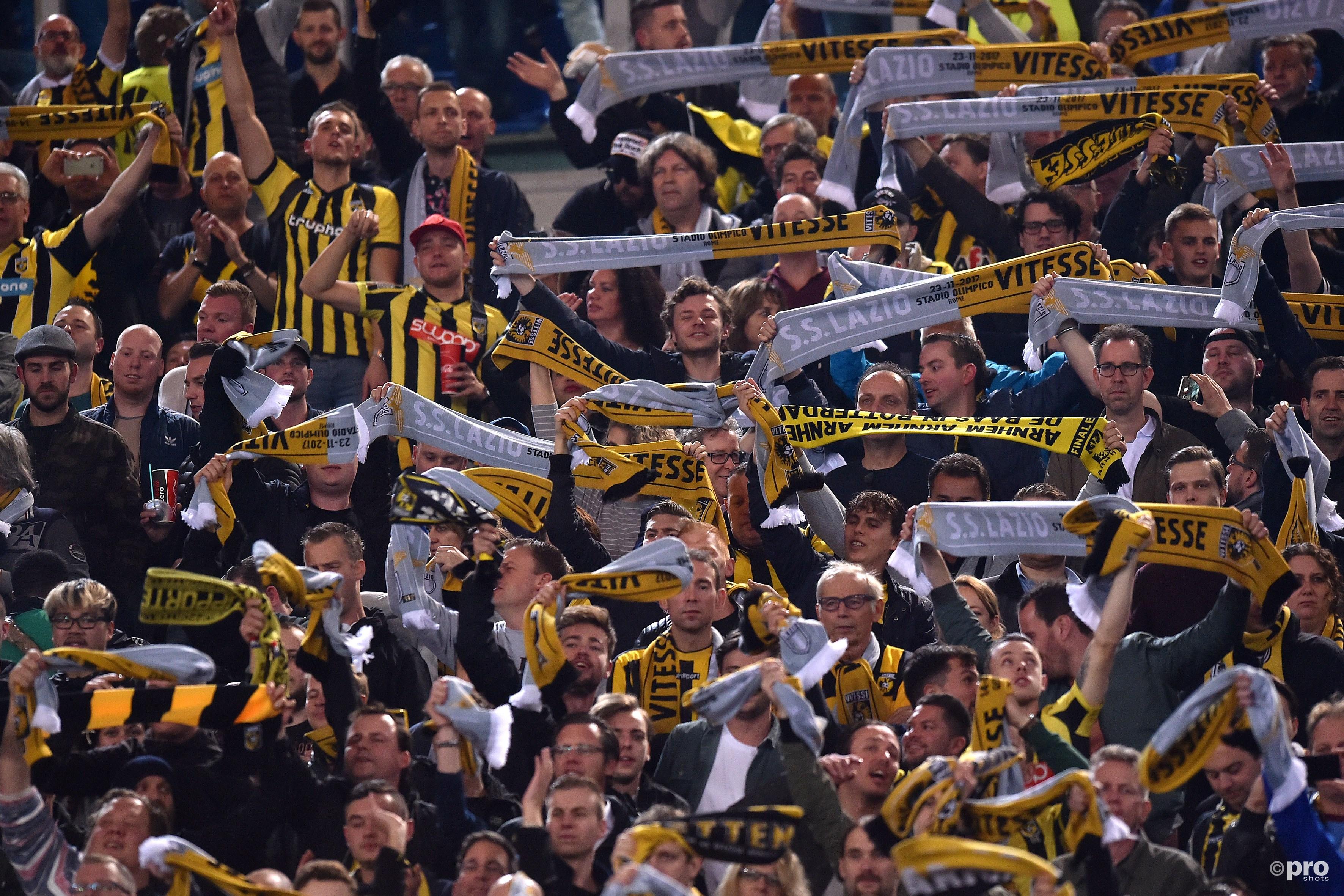 De aanhang van Vitesse in Rome. (PRO SHOTS/Insidefoto)