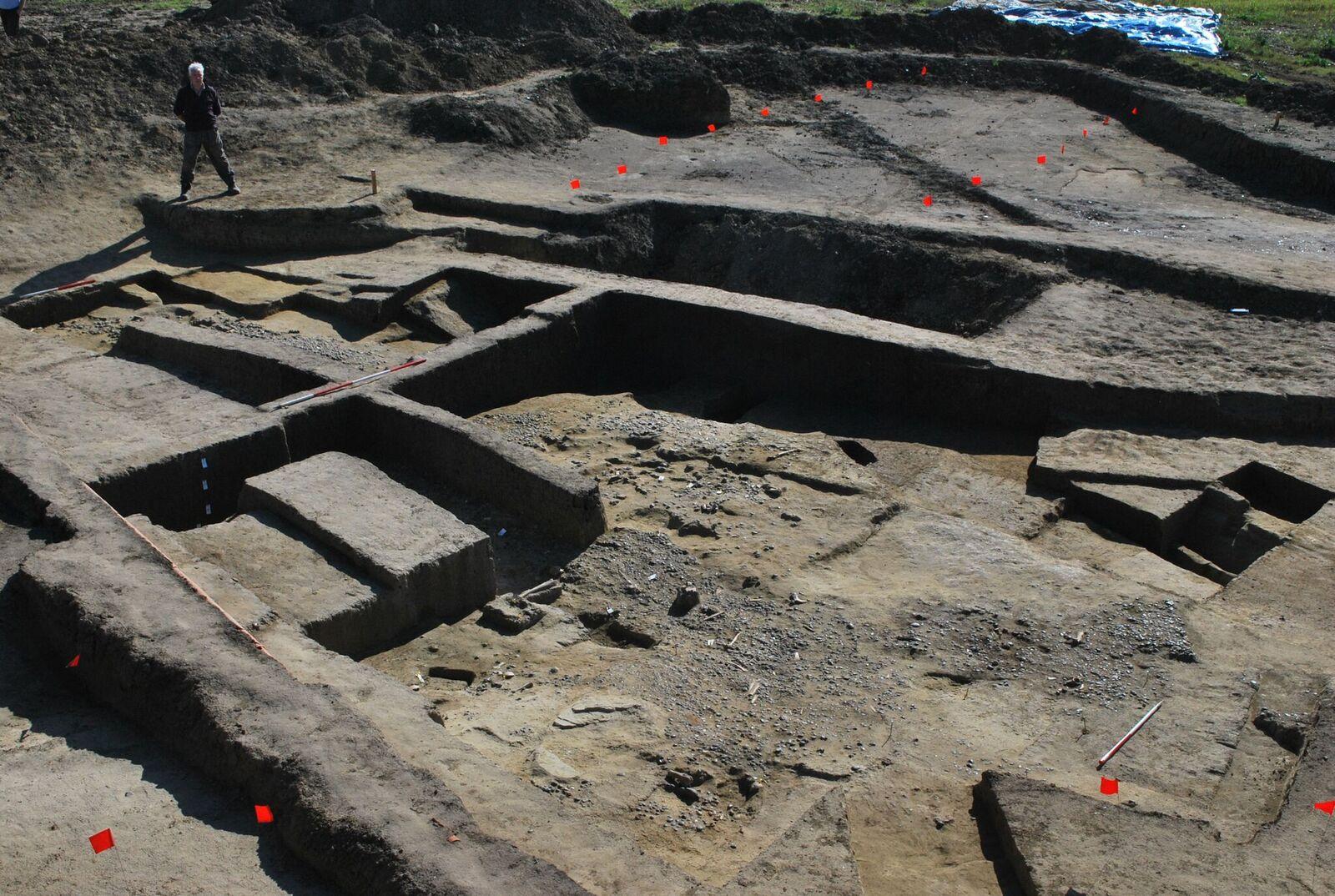 Restant van het Romeinse fort (Leicester University)