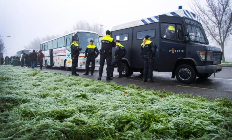 Actievoerders gearriveerd in Dokkum