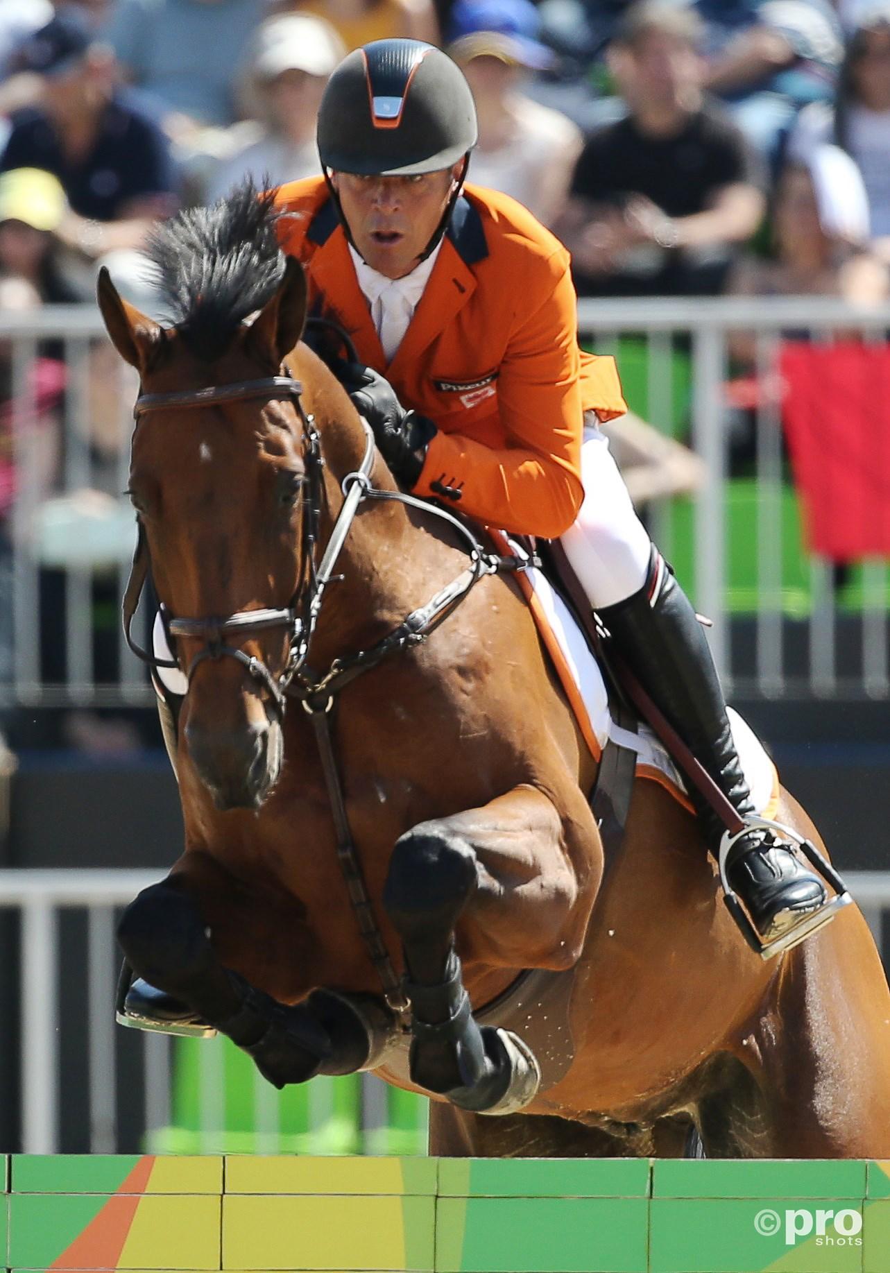 Jeroen Dubbeldam en paard Zenith tijdens de Spelen van Rio. (PRO SHOTS/Action Images)