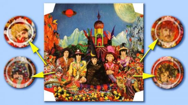 The Beatles op de hoes van Their Satanic Majesties Request