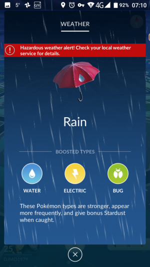 Pokemon Go Weather
