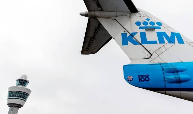 KLM schrapt maandag 122 vluchten
