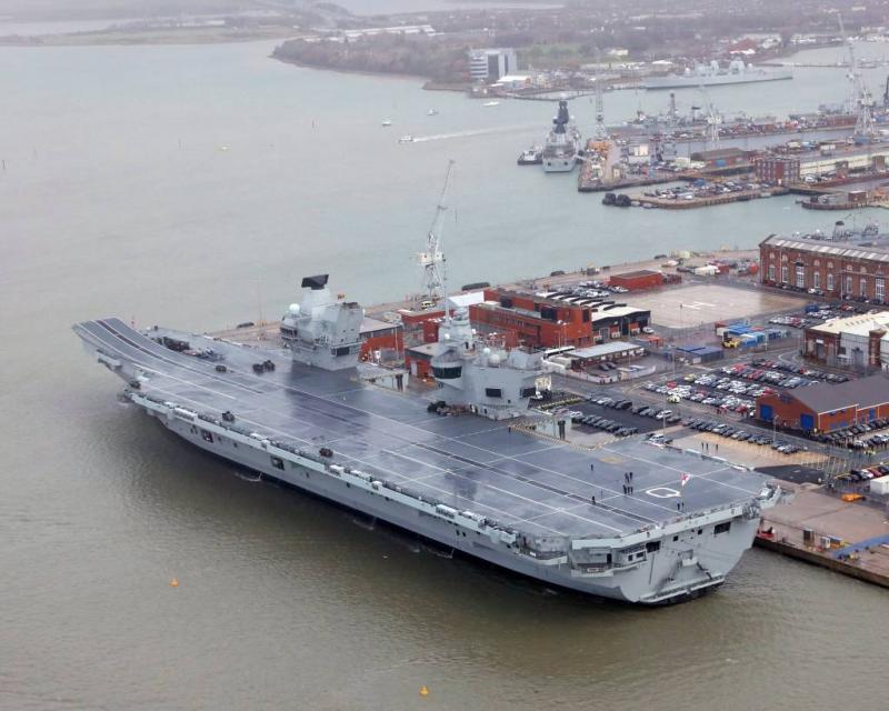 Lek in nieuw vliegdekschip van 3,5 miljard