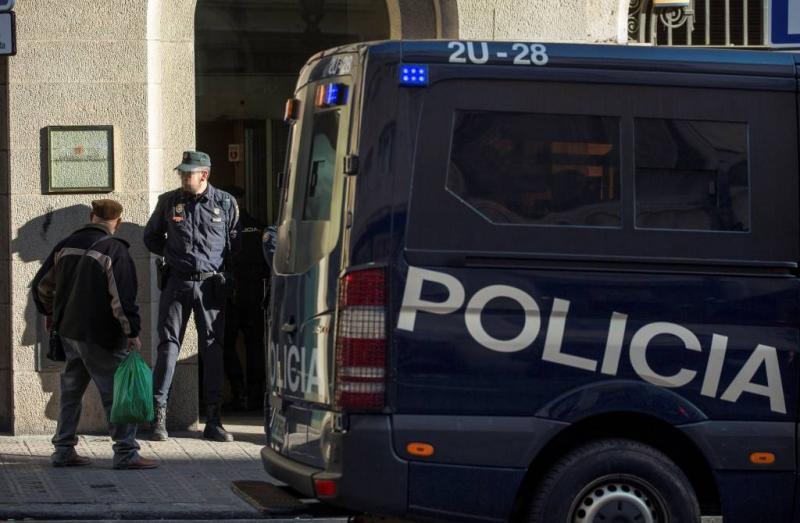 Veel politie op straat in Catalonië