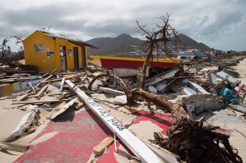 Eerste hulpgeld naar Sint-Maarten