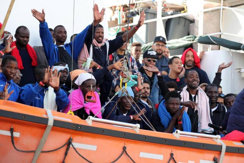 Minder migranten naar Europa