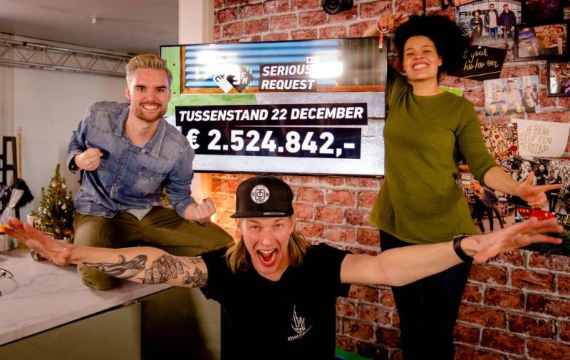 Ruim 2,5 miljoen binnen voor Serious Request