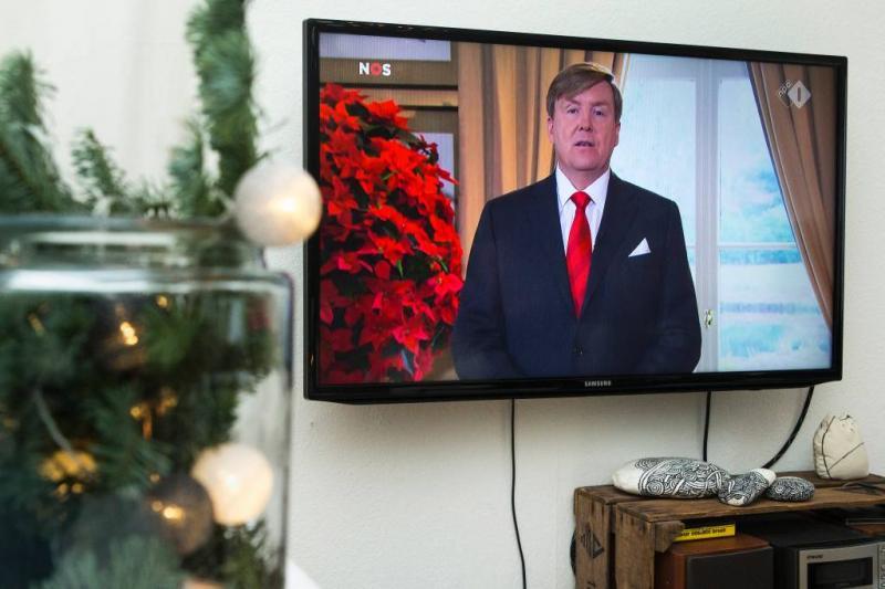 Koning spreekt volk toe in kersttoespraak
