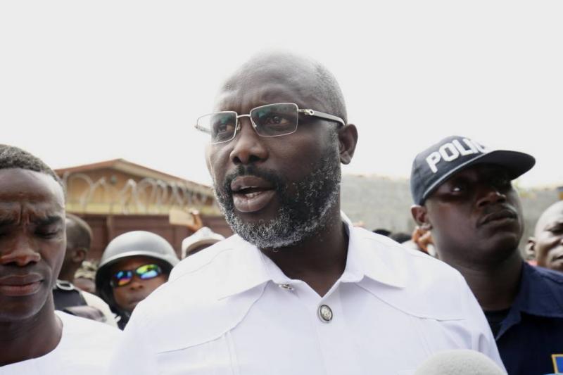 George Weah nieuwe president Liberia