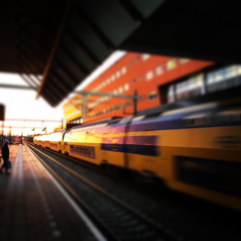 Minder treinen door weersomstandigheden (Foto: Nederlandse Spoorwegen)