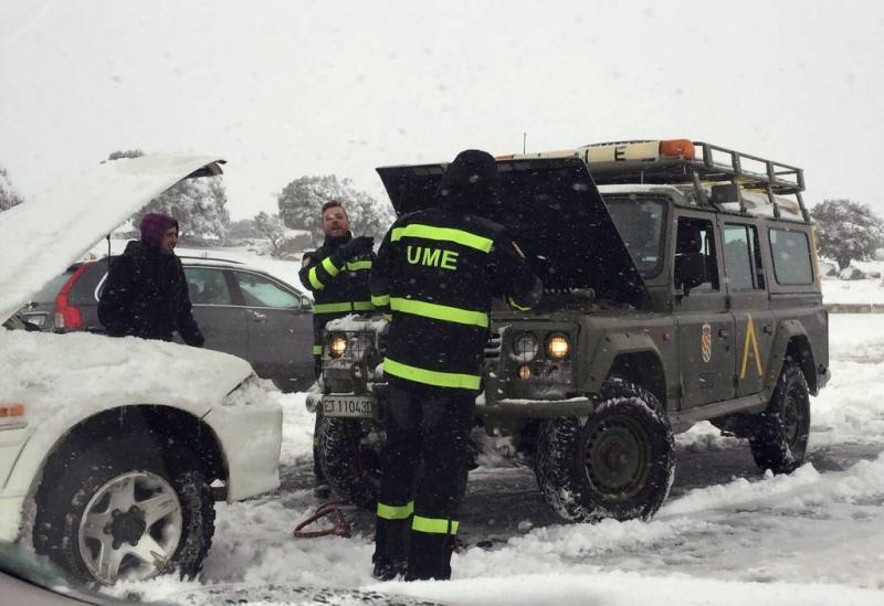 Spanje zet leger in bij sneeuwoverlast