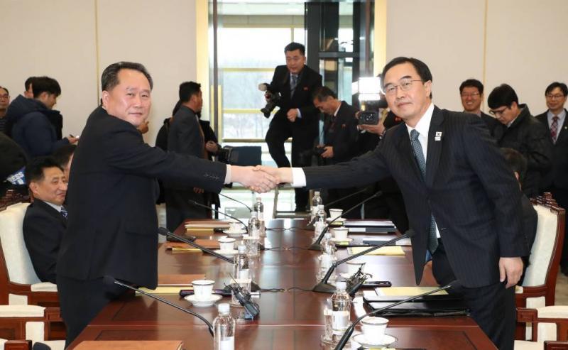 Korea's herstellen militaire hotline