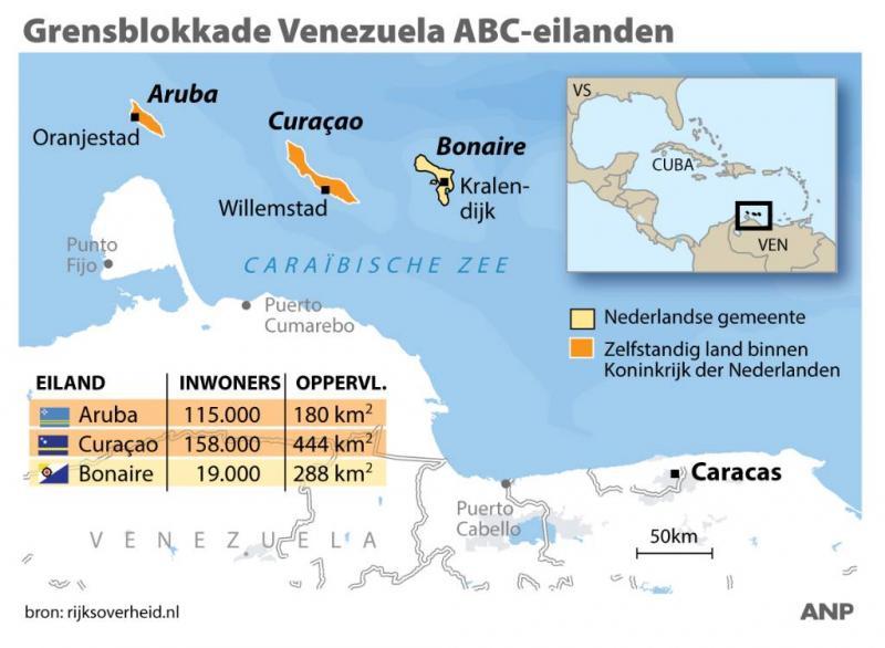 Venezuela handhaaft blokkade ABC-eilanden