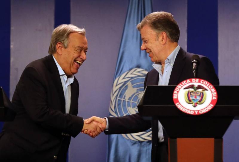 VN-chef biedt Colombia hulp voor vluchtelingen