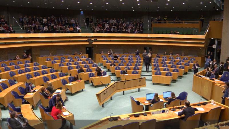 Gronings gasdebat in de Tweede Kamer  (Foto: videostill livestream Gronings gasdebat)