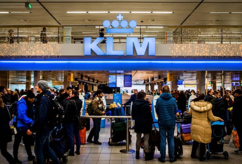 KLM annuleert 228 vluchten vanwege storm