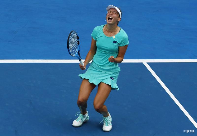 Mertens voor het eerst kwartfinaliste in een Grand Slam (Foto: Pro Shots/Action Images)