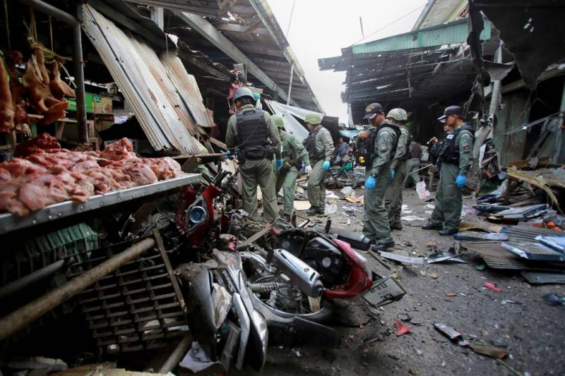 Drie doden door bomaanslag in zuiden Thailand