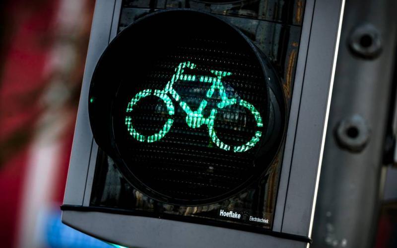 Veel vaker groen licht voor fiets in Rotterdam