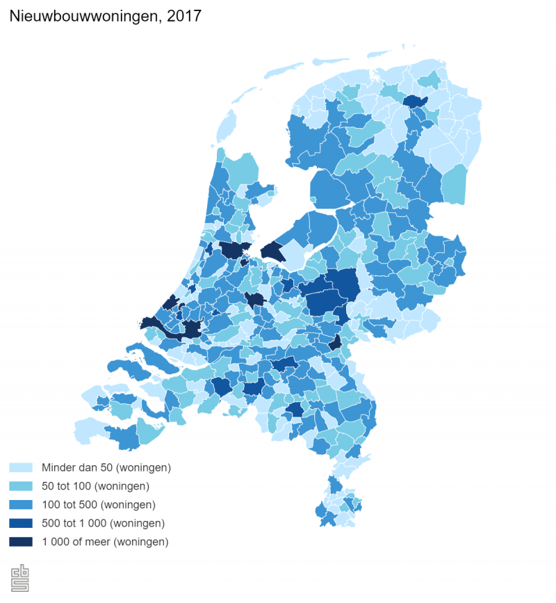 Woningvoorraad flink toegenomen in 2017 (Foto: Centraal Bureau voor de Statistiek)