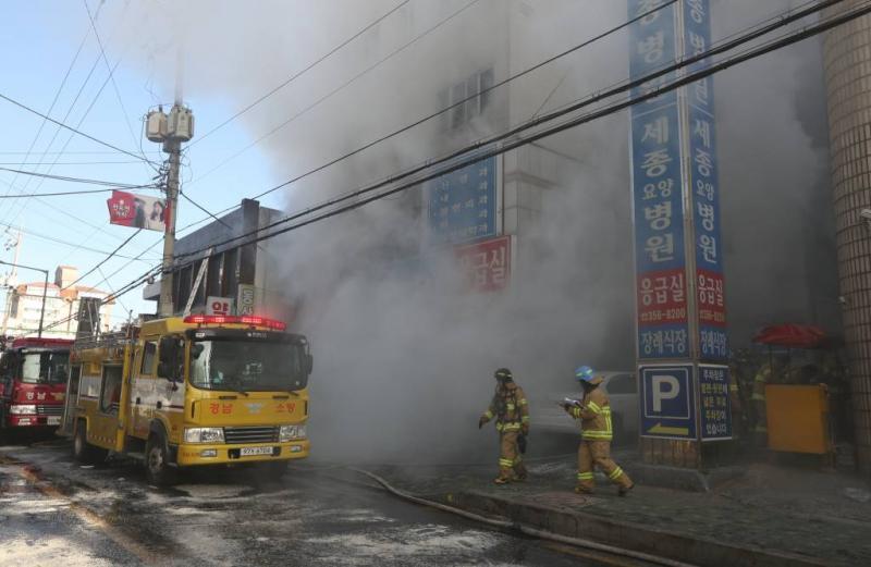 Veel doden bij brand in ziekenhuis Zuid-Korea
