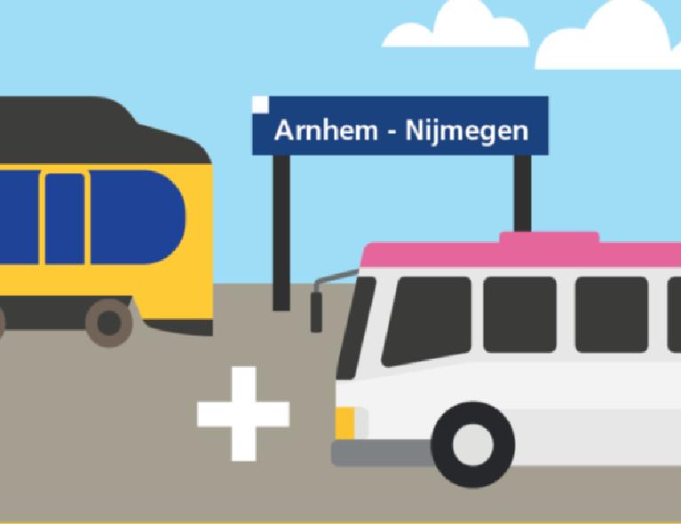 NS en Arriva testen bus+ ticket (Foto: Nederlandse Spoorwegen)