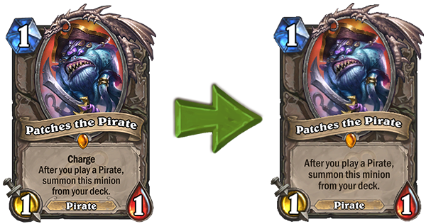 Patches the Pirate nerf Hearthstone