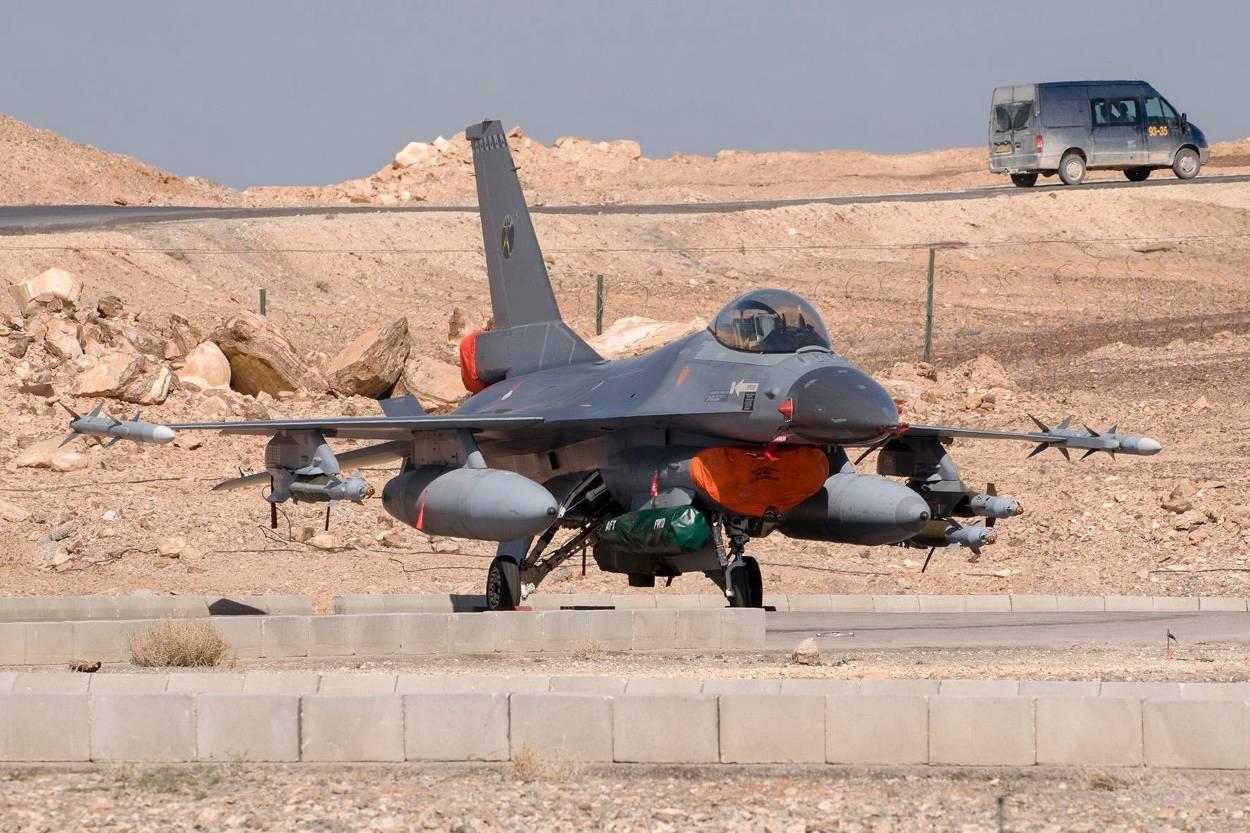 Nederlandse F16 in het Midden-Oosten (Foto: Ministerie van Defensie)