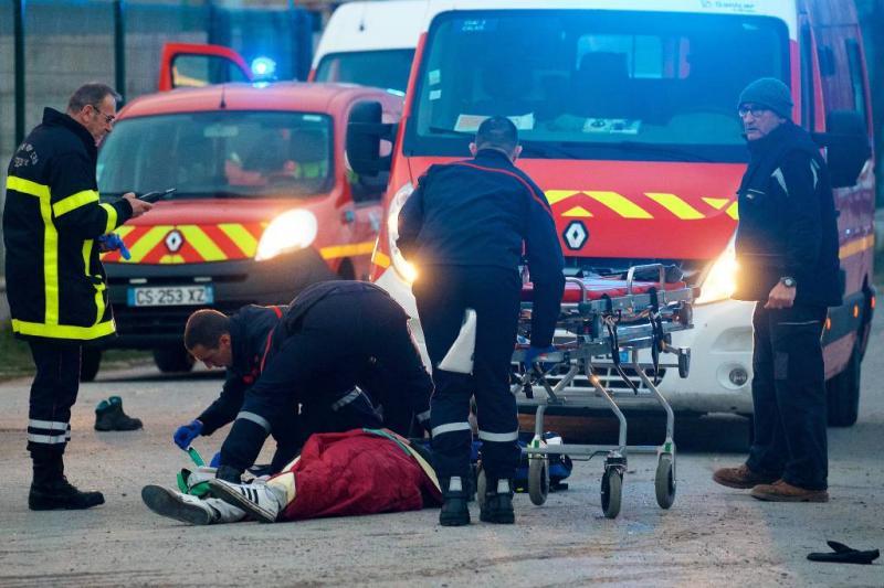 Gewonden door kogels tijdens rellen Calais