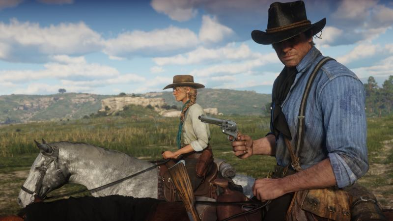 Red Dead Redemption 2 horseriding