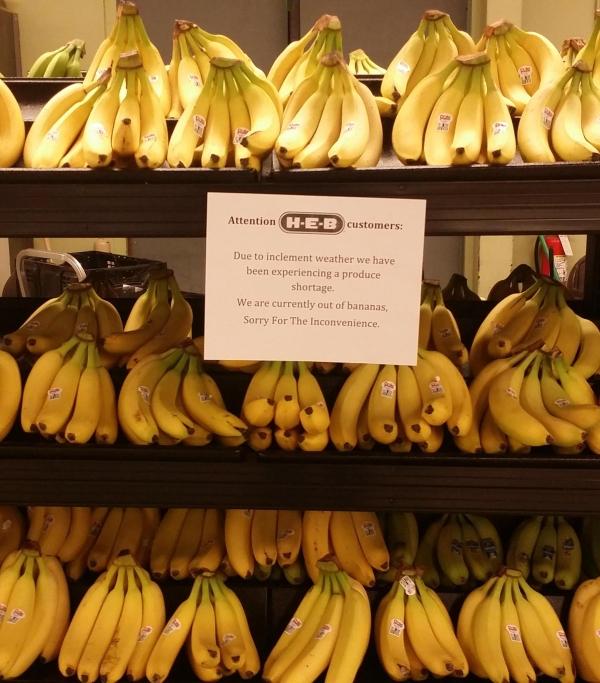Ik heb geen bananen...
