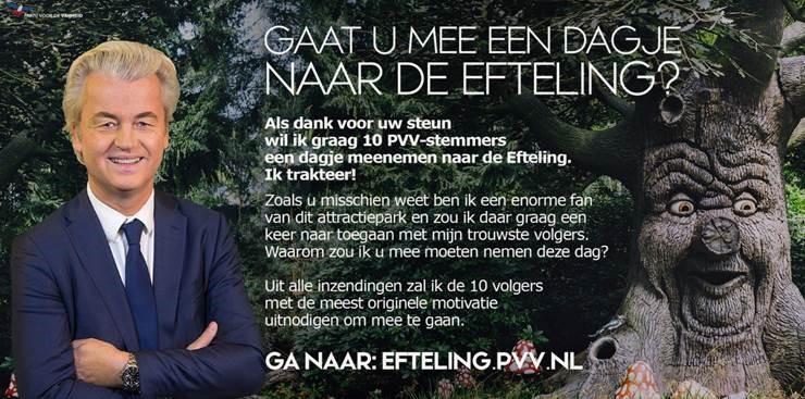 Wilders trakteert volgers op Efteling (Foto: Geert Wilders)