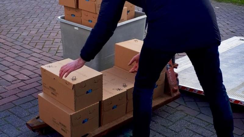 Politie vind grote partij gestolen babyvoeding (Foto: politie.nl)