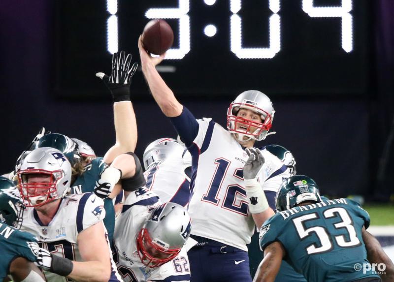 NFL-MVP Tom Brady staat op het punt een gerichte pass te geven (Pro Shots / Action Images)