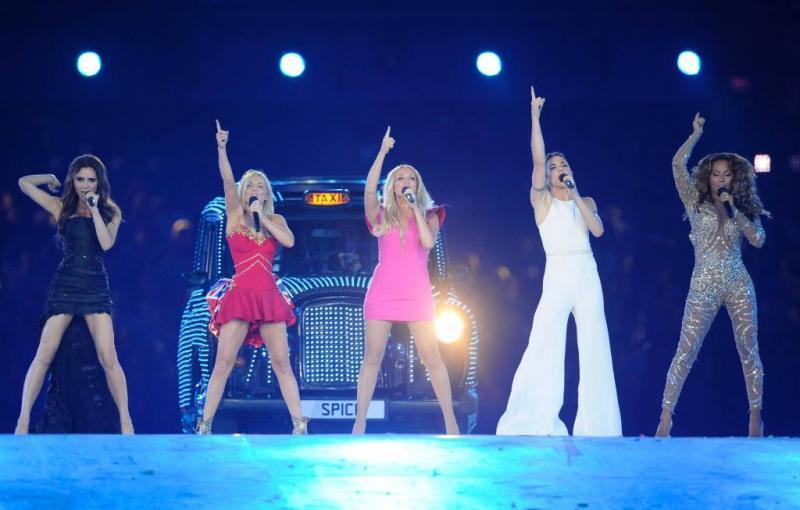 'Optredens Spice Girls in UK en VS'
