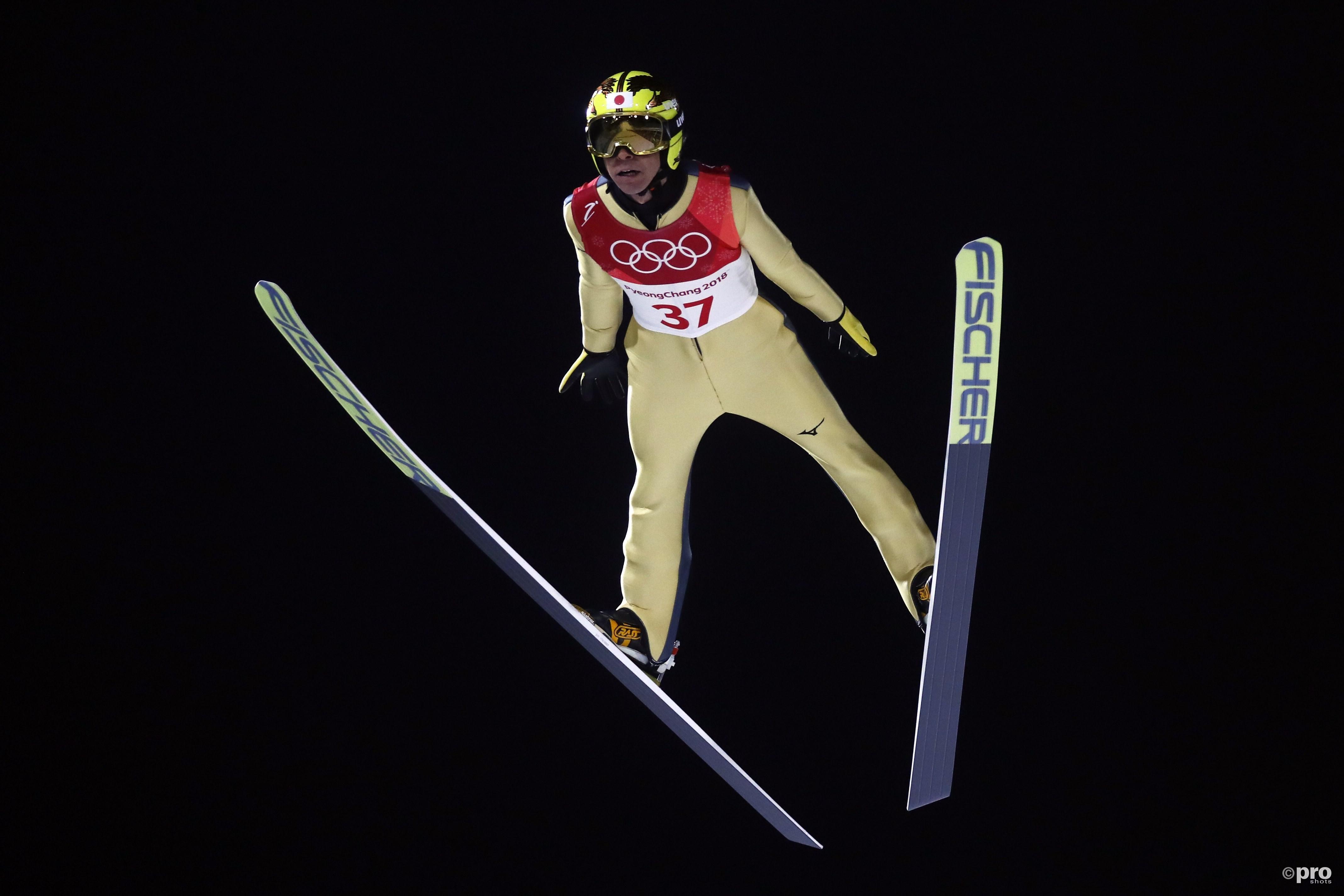 De legendarische Noriaki Kasai is nu officieel achtvoudig olympiër, een unieke prestatie op de Winterspelen (Pro Shots/Action Images)