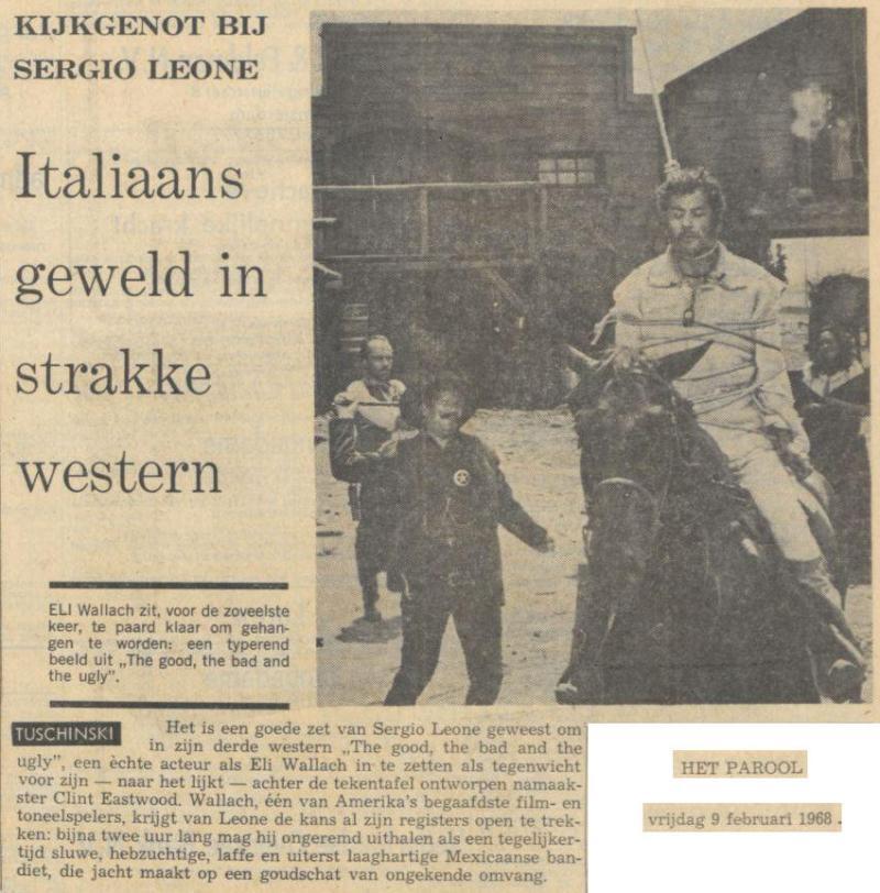 Uit het Parool van 9 februari 1968