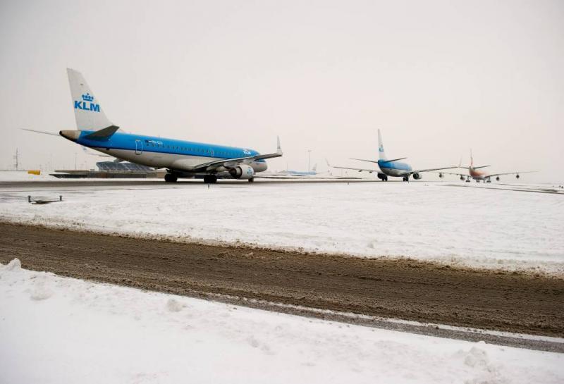 KLM annuleert vluchten vanwege sneeuw