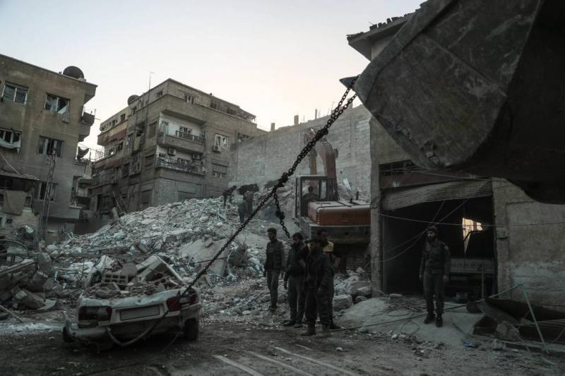 'Tientallen doden door bombardementen Syrië'