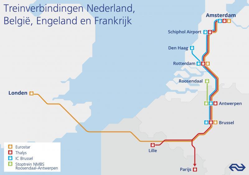 Treindienst Londen-Amsterdam vanaf 4 april (Foto: Nederlandse Spoorwegen)