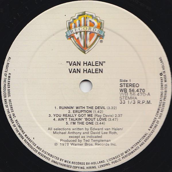 Van Halen - Van Halen A