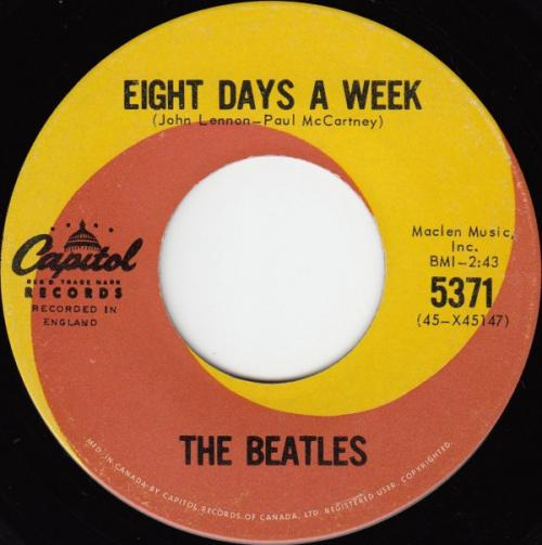 The Beatles - Eight Days A Week (Canadese persing)