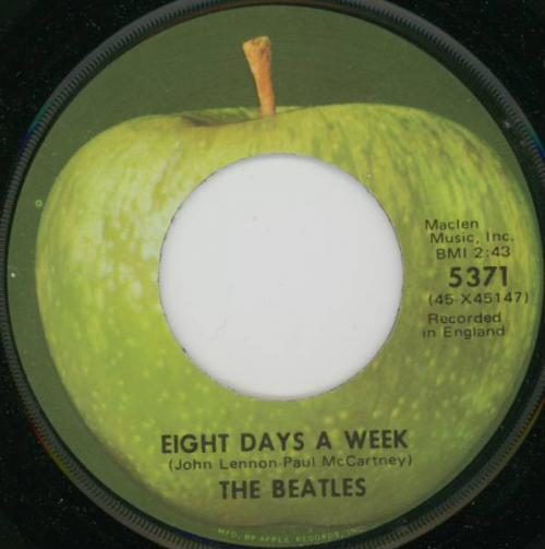 The Beatles - Eight Days A Week (Amerikaanse her-uitgave uit 1971)