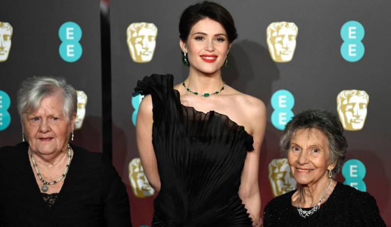 Demonstranten op rode loper BAFTA's