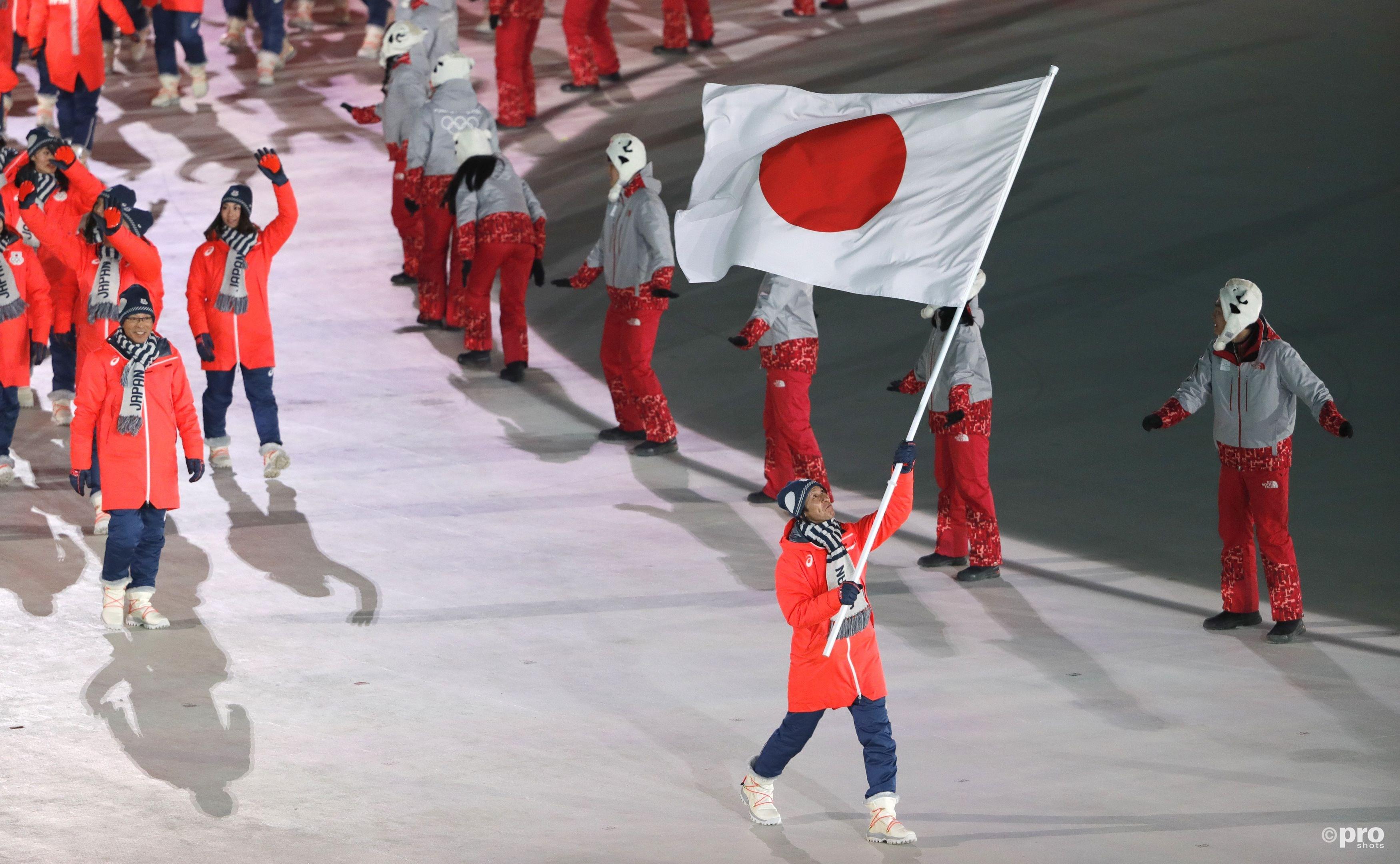 Kasai als trotse vlaggendrager tijdens de openingsceremonie in Pyeongchang (Pro Shots/Action Images)