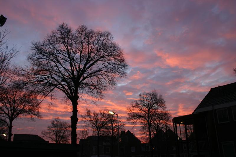 Bijzonder fraaie lucht boven Alkmaar  (Foto: DJMO)