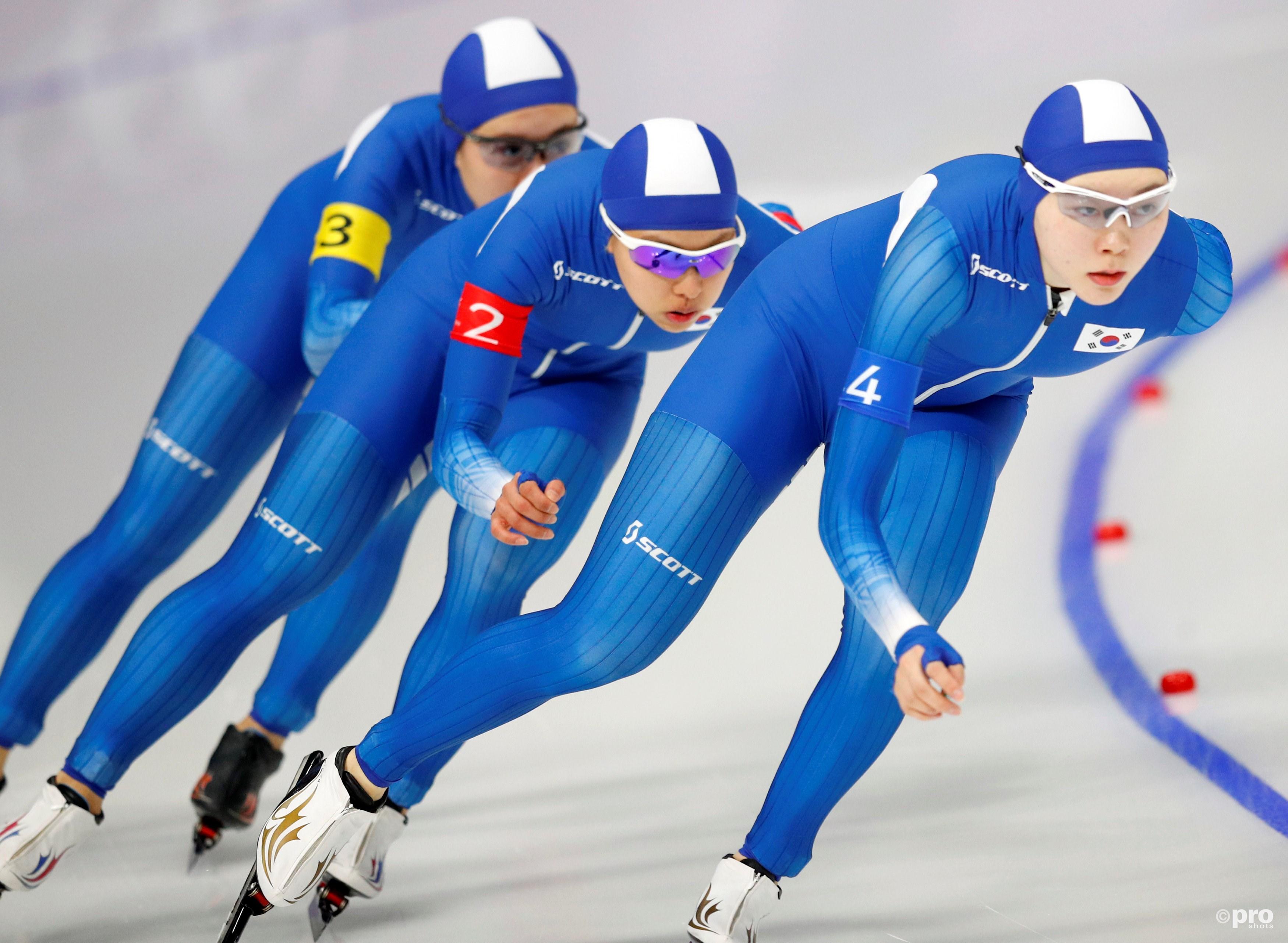 De Koreaanse ploeg in de eerste ronde op de Spelen in Pyeongchang (Pro Shots/Action Images)